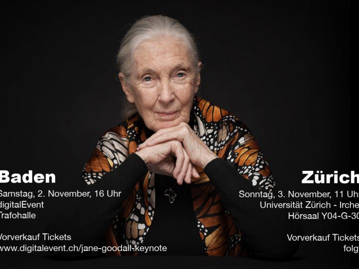 Jane Goodall besucht die Schweiz!